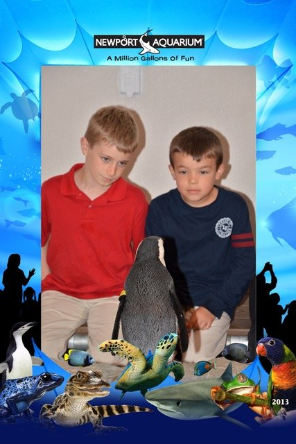 The Trip Takes Us crew participates in a great penguin encounter at the Newport Aquarium in Newport, Kentucky.
